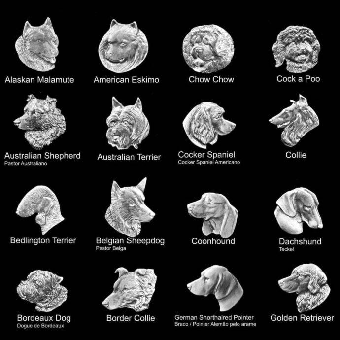 Medalhas de animais para placas de homenagem de cachorros de várias raças 2