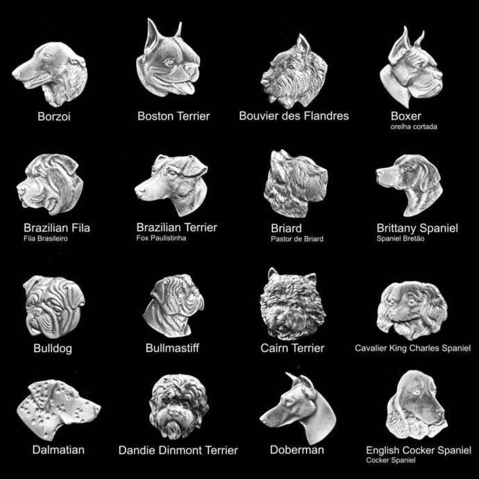 Medalhas de animais para placas de homenagem de cachorros de várias raças 3