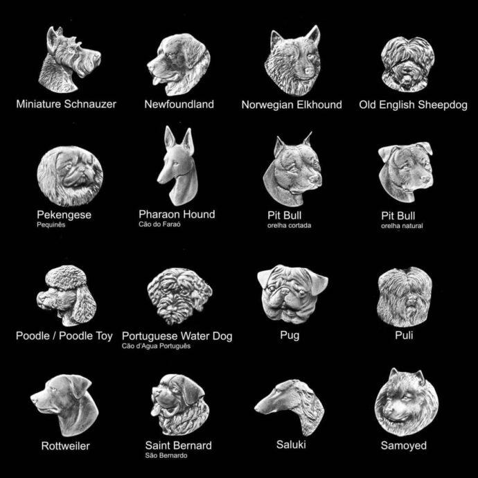 Medalhas de animais para placas de homenagem de cachorros de várias raças 6