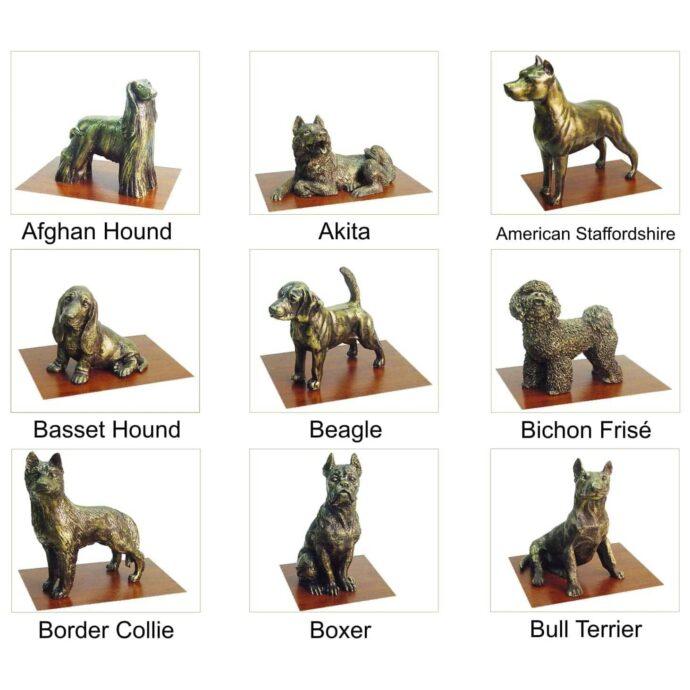 Miniaturas de animais para adornar urnas cinerárias