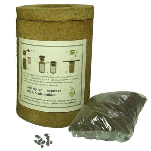 A Bio Urna Pequena para cinzas de pessoas vem com sementes de Mirabilis.