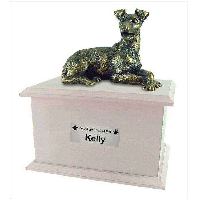 Urna para cinzas Box Econômica com miniatura e placa (rosa)