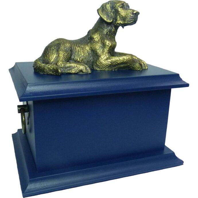 A Urna para cinzas Petbox Oriental azul é uma peça linda para homenagear seu animal de estimação querido