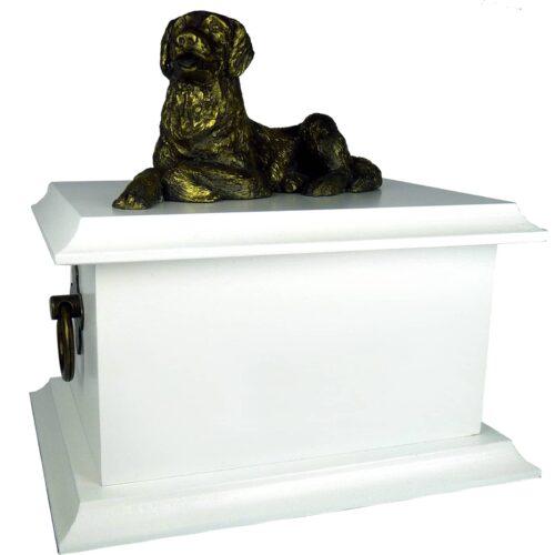 Urna para cinzas Petbox Oriental com miniatura (branca)