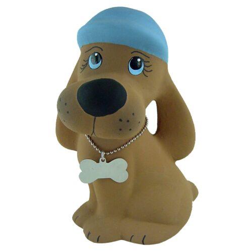 Urna para cinzas animais Cãozinho de Cerâmica (marrom/azul)