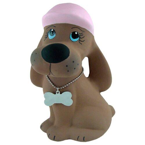 Urna para cinzas Cãozinho de Cerâmica (marron/rosa)