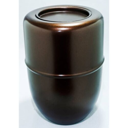 Urna para cinzas de pessoas Potiche de Metal (marrom)