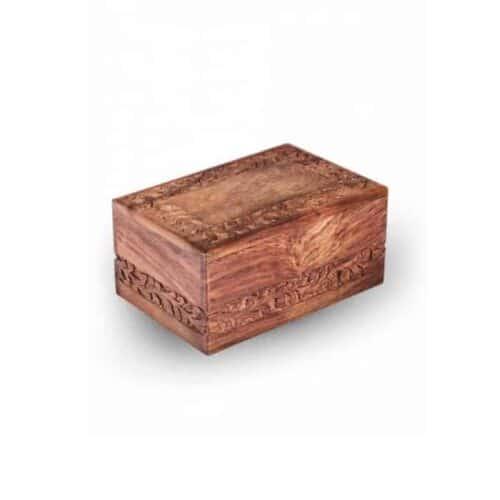 Urna para cinzas Amazonas, feita de cerejeira